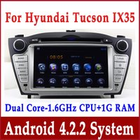 Android 4.4 Car DVD Player Navegación GPS para Hyundai Tucson IX35 2009-2012 con Radio TV BT USB SD AUX 3G WIFI Audio estéreo 1.6G CPU + 1G RAM