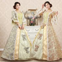 Wholesale New Century - 2015 New 18th Century Victorian Print Long Party Dresses Retro Palace Marie Antoinette Costumes Dress 9 Colors Can Be Customized