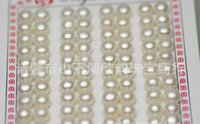 Wholesale Oval White Bead - Free shipping wholesale natural pearls - natural freshwater pearl beads loose beads 7-8mm oval bread AAA grade particles beads, pink, white,