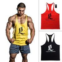 Wholesale Men S Sport Tank Tops - Bodybuilding Stringers Tank Top Men Golds Gym Shark GASP LOA Fitness Singlet Vest Muscle Shirt Undershirt Sport Clothes Gymshark