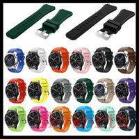 Wholesale Wrist Watch Band Wholesalers - New Replacement Wrist Band Wristband Silicon Strap Clasp For Samsung Gear S3 Smart watch bands Bracelet 12 color DHL free