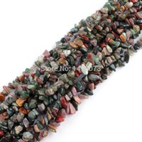 Gros Strings De Collier Indien Pas Cher-Frais de port gratuit gros-Collier Bracelat Bijoux DIY Faire 6-8mm Freerorm Gravel Chip Multicolor Indian Agate Perles en vrac Strand 34