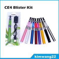 Wholesale Good Ego Ce4 Kit - Ego CE4 Electronic Cigarette Blister kit ce4 atomizer 650mah 900mah 1100mah battery in Blister pack various color good quality DHL Fast Free