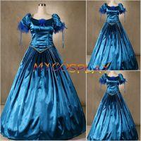 Wholesale Civil War Southern Gown - Wholesale-2015 Civil War Cosplay Dress Southern Belle Ball Gown Evening Dress Victorian Scarlett Dress