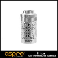 Wholesale Hollow Steel Tubes - 100% Original Aspire Triton Hollowed-out Sleeve 3.5ML Aspire Triton Replacement Tank Stainless Steel Triton Tube Ecigarette Tank For Triton
