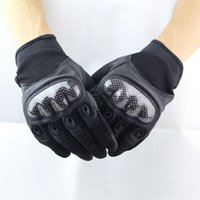 Wholesale Mechanix Gloves Free Shipping - Wholesale-New Mechanix Wear Military Tactical Full Finger Combat Motorcycle Carbon Knuckle Leather Gloves Free Shipping