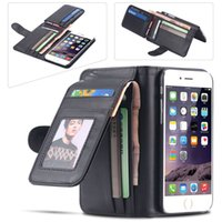 Wholesale Iphone 4s Fold Cover - Leisure Folded Wallet Case For Apple iPhone 6 4.7 Plus 5 5s 5c 4s For Samsung Galaxy S5 S6  S6 Edge  Note 4 Flip Leather Cover
