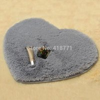 Wholesale Wool Table Mat - 40*50cm Carpet Heart Shaped Chenille Fluffy Bedroom Rug Living Room Coffee Table Wool Carpet Heart Mats Carpet Floor Bath Mat