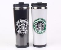 поездка из нержавеющей стали starbucks оптовых-Starbucks двойной стены из нержавеющей стали кружка гибкие чашки / чашка кофе / кружка чай / путешествия кружки / чашки чая / вина чашки 4 цвета