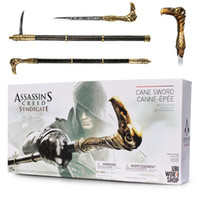 Novo NECA Assassin's Creed Syndicate Espada Cane Cosplay Arma Jacob Frye Cane Hidden Blade PVC Action Figure Model Toy Gifts