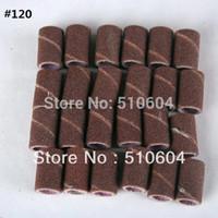 bandes de ponçage de manucure achat en gros de-100pcs # 80 # 120 # 180 Bandes de ponçage pour machine de forage des ongles manucure pédicure, anneau de sable de broyage, 1.2 CM * 0.8 CM, livraison gratuite