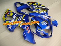 Wholesale Sets Movistar - ABS Plastic Fairing kit for SUZUKI GSXR600 750 04 05 GSXR600 GSXR750 GSX-R600 750 K4 2004 2005 Movistar blue Fairings set SW128