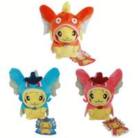 "Wholesale Soft Pikachu Hat - Free Shipping EMS 3 Styles Plush Doll Pikachu Cosplay Shiny Gyarados Magikarp 8"" For Children Birthday Gift Christmas Gift"