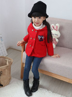 Wholesale Childrens Sweater Jackets - girls autumn winter coats baby christmas outwear kids hooded trench coat infant toddler girl jackets fashion coats sweaters childrens coats