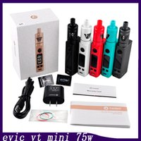 Wholesale Evic Kits - Joyetech Evic VTC Mini 75W with TRON s Out Put Kit Colorful VS Evic Mini with Cubis Kit Kanger Topbox mini 0266056-1