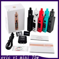 Wholesale Evic Black - Joyetech Evic VTC Mini 75W with TRON s Out Put Kit Colorful VS Evic Mini with Cubis Kit Kanger Topbox mini 0266056-1