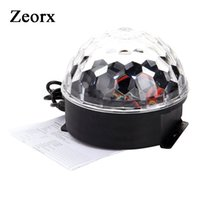 Оптово-18W Club Bar Дискотека Party Crystal LED RGB Magic Ball Сценический эффект Light Lighting Auto Voice Activated 6 LED Disco Dj Stage Light