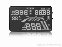 "Wholesale Vehicle Security - Q7 5.5"" Universal Car HUD GPS Speed Warning Head Up Display Satellite Number Display Vehicle-mounted Security System"