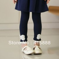 Wholesale Girls Pink Pearl Tights - Wholesale-free shipping girls pearl lace leggings,5pcs lot,GXS112