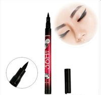 Wholesale Fast Use - New 36H Waterproof Liquid Black Eyeliner Pencil Skid Resistant Eye liner Pen For Cosmetic Makeup Home Use Quality Wholesale Fast Shippment