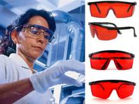 endüstriyel camlar toptan satış-Mavi Güvenlik Endüstriyel Gözlükler Ayarlanabilir Kırmızı Çerçeve Diş Koruyucu Anti Lazer Gözlük Renkli Hava Rüzgar Geçirmez Sıçrama ...