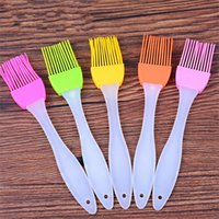 Wholesale tools baking butter cake - BBQ Oil Brush Silicone Cake Bread Butter Brushes Heat Resisting Kitchen Baking Tools For Multi Color 0 5mh C R