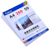 Wholesale Double Sided Photo Paper - Express Free(Double-sided) High-gloss coated paper A4 * 260G 50 Sheets A4 photo paper inkjet waterproof paper photo paper for Inkjet Prints