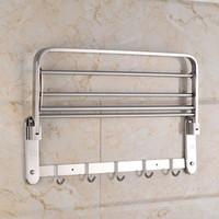 toalheiros metálicos venda por atacado-Novo aço Inoxidável dobrável Toalheiro Toalheiro Banheiro Acessórios Do Banheiro racks Hardware Do Banheiro frete grátis