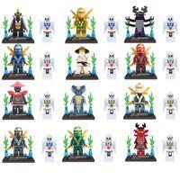 Wholesale Building Blocks Ninjago - 12 pcs Lot NINJAGO Minifigures Cole Kai Jay Lloyd Nya Skylor Zane Pythor Chen Building Blocks Figures Toys XL78011