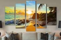 pintura al óleo libre del océano al por mayor-Envío gratis océano Sunset pintura al óleo pintura impresa pintura al óleo sobre lienzo pintura al óleo para la decoración del hogar decoración de la pared F / 1239