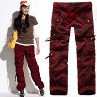 Wholesale Camouflage Harem Pants Plus Size - Women's Clothing Women Camouflage Cargo Pants Girls Harem Hip Hop Dance Costume Khaki Baggy Pants Plus Size XXXL Casual Trousers 9821