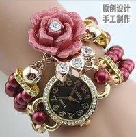 Wholesale Jewelry Shells Supplies - Hot style female table han edition student fashion watches Exclusive supply Color pearl flower bracelet table