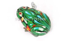 Wholesale tin toys wholesale - Wholesale-Factory direct sales Wind up tin frog green Souptoys A small frog toy