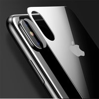 Wholesale Iphone Film Protector Case - 0.3mm Back Screen Protector For iPhone X 8 7 Plus Back Tempered Glass For iPhone X Full Protective Hardness Back Glass Film