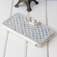 Wholesale Iphone5 Diamond Case - Luxury Diamond Cell Phone Case Cover Stand flip colors cover case for Iphone5 6 6plus DHL Free SCA078