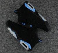 ingrosso scarpe in pelle scamosciata blu per la vendita-Vendita calda VI UNC 6s UNC Black University Blue gatorade all'ingrosso Top Quality uomo scarpe da basket MAROON 6 scarpe sportive taglia eur 41-47