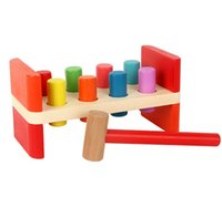 Wholesale Pounding Bench - Perfect Quality Wooden Pounding Bench With Hammer Kids Children Fun Activity Play Toys