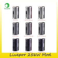 Wholesale threading device - Authentic Yosta Livepor 256W VW TC Box Mod Dual 18650 Battery Livepor 256 Device Mod For Original 510 Thread Tank 100% Genuine 2243008