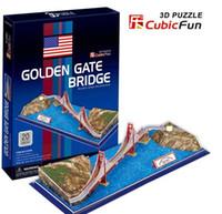 Wholesale Golden Gate Bridge 3d - Wholesale-Birthday gifts,educational puzzle toys,3D paper model,World Architecture series,Paper craft,Golden Gate Bridge
