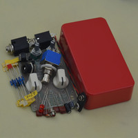 Wholesale Metal Compressor - DIY Dynamic Compressor Guitar AMP Effect Pedal True Bypass Red metal pedal