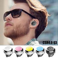 Wholesale A2dp Bluetooth Stereo Headset - Q3 Mini Earphone Cell Phone Earphones Bluetooth EDR Wireless Headphone Stereo Headphones CSR 4.0 Universal Headset HFP A2DP AVRCP