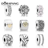 Wholesale manufacturing coins resale online - DORAPANG Sterling Silver Safety Clip Original charm Bead Fit Bracelet DIY bangle Jewelry Manufacture Birthday Gift