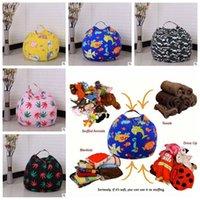 Wholesale 32 doors - 32 Colors 45cm Kids Storage Bean Bags Plush Toys Beanbag Chair Bedroom Stuffed Room Mats Portable Clothes Storage Bag CCA8332 30pcs