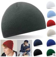 Wholesale Classic Headgear - Fashion Classics Pure Color Beanie Hat Striola Short Size Warmer Skee Hat Headgear Caps Outdoor Women Mix Colors