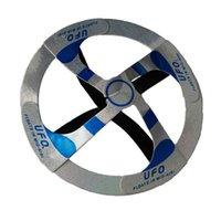 sihirli çanak oyuncak toptan satış-Serin Yüzer UFO Oyuncak Tabağı Sihirli Hileler Uçan Disk İnanılmaz Yüzer Oyuncaklar Sihirli Spinners Uçan Oyuncaklar OPP TORBA Paketi