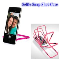 Wholesale Iphone Case Stand Snap - Ahha Selfie Snap Shot Case Stand Holder Korean Style Take Photo Frame Bumper Cover cellphone case For iPhone 5 6 6plus S6 100pcs