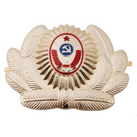 Wholesale Russian Police - RUSSIAN SOVIET OFFICER POLICE USSR METAL CAP HAT BADGE COCKADE - 36278