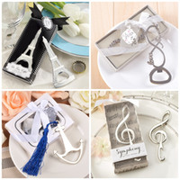 Wholesale Eiffel Centerpieces - Metal Bottle Opener Boat Anchor Musical Note Love Eiffel Tower Shape Corkscrew For Wedding Centerpieces Beer Openers Gift 3 2cd4 B