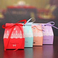 Wholesale Sweet Love Favour Box - Romantic Wedding Sweet Love Paper Candy Box Favour DIY Paper Favor wedding candy Box Free shipping