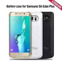 Wholesale External Battery Case S4 - Power bank case external battery case for samsung Galaxy S6 edge plus note 5 S5 S4 note 4 iphone 6 6 plus